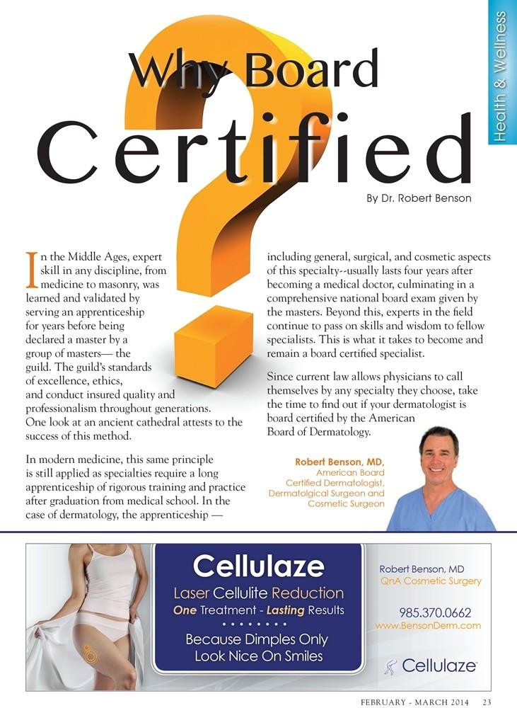Tangi Lifestyles February - March 2014 - Why Board Certified?